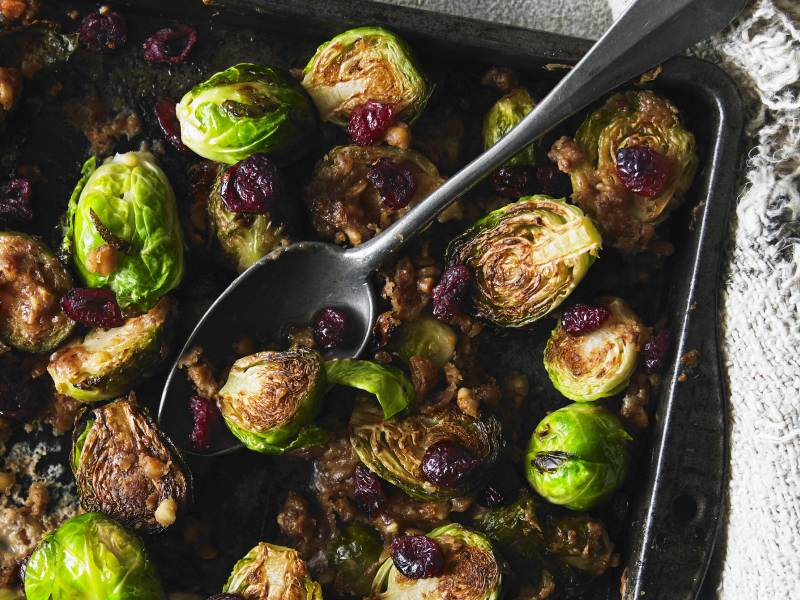 Flash Roasted Peanut Butter Sprouts