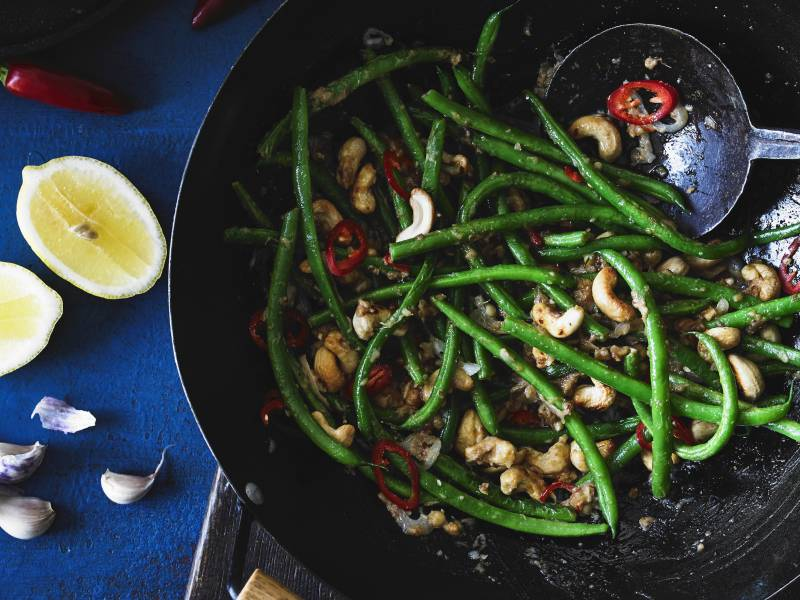 Green Bean & Cashew stir fry