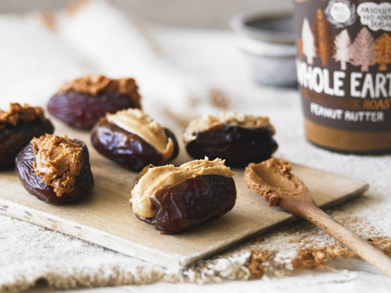 Peanut butter with dates
